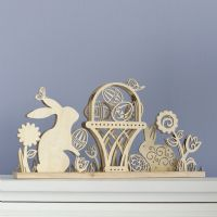Flourish by Enesco Wooden Easter Design Table Centrepiece 4037712